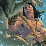 Detalle portada Conan: Exodus