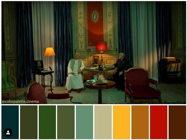 Los dos Papas - Paleta de colores