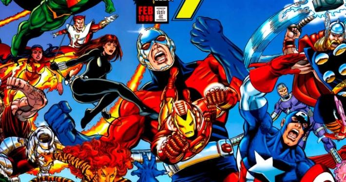 Detalle portada Heroes Return: Los Vengadores