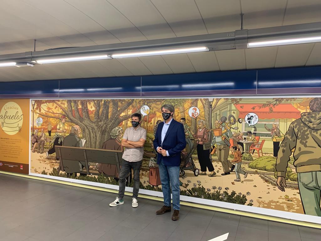 Paco Roca - Mural Plaza Castilla - 02