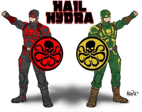 Minifigura Capitán América (Agente de Hydra)