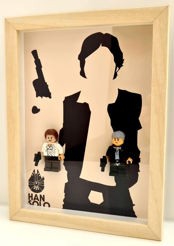 Cuadro minifigura Star Wars Han Solo (Episodio IV y VII)