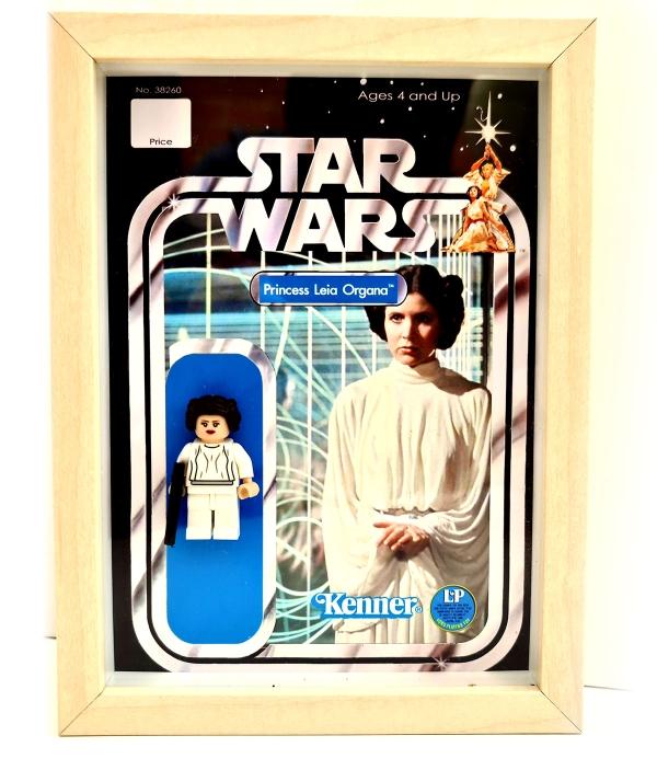 Pack cuadros minifiguras Luke, Han Solo y Leia Organa (Kenner)