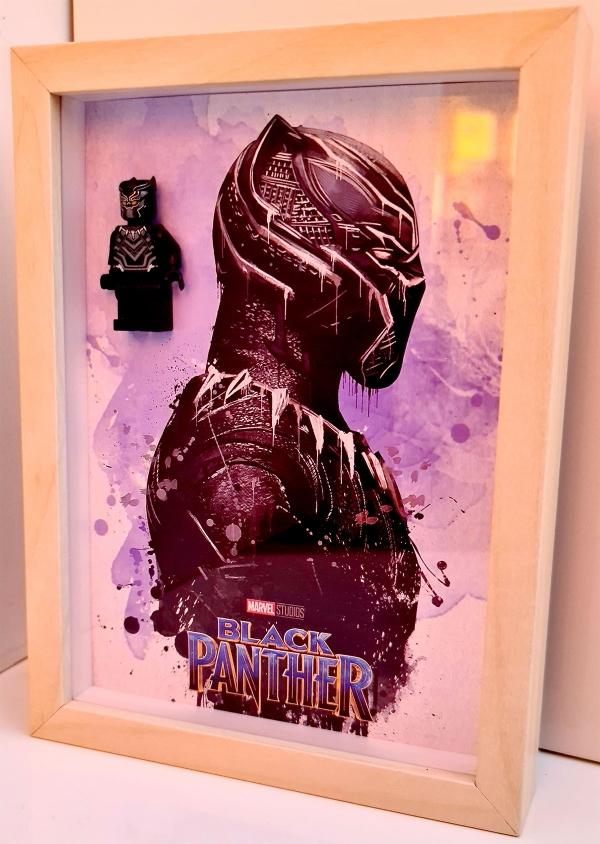 Cuadro minifigura Pantera Negra (Black Panther)