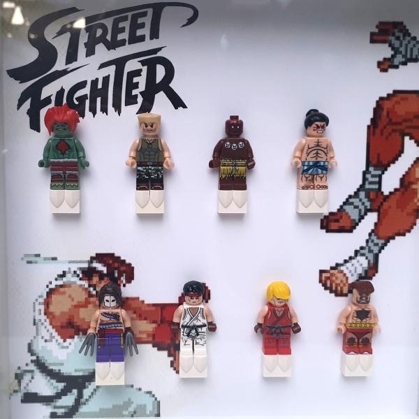 Cuadro de minifiguras Street Fighter