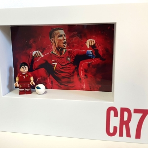 Cuadro minifigura Cristiano Ronaldo CR7