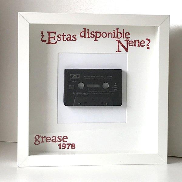 Cassette BSO Grease - Marco para coleccionistas