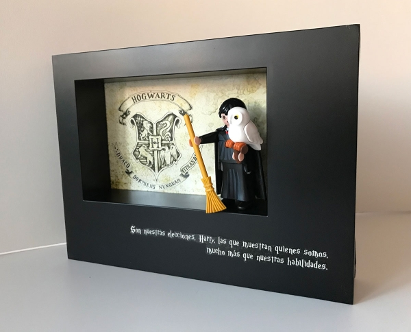 Playmobil Harry Potter (Custom) - Enmarcado para coleccionistas