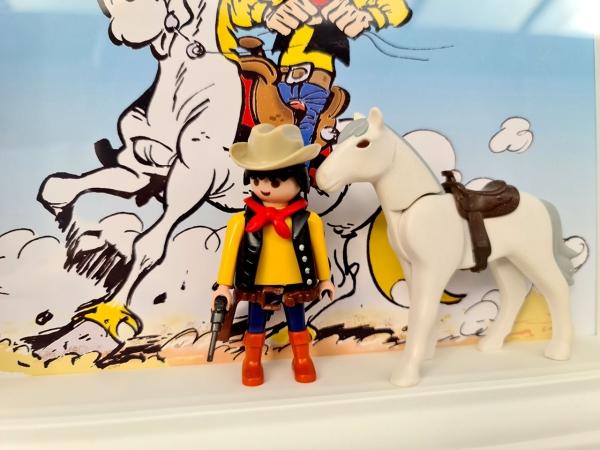 Playmobil Lucky Luke (custom) - Enmarcado para coleccionistas (variante)