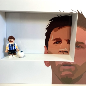 Cuadro minifigura Messi