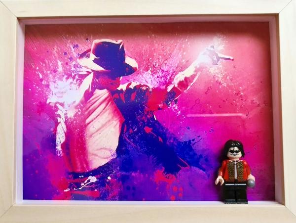 Cuadro minifigura Michael Jackson