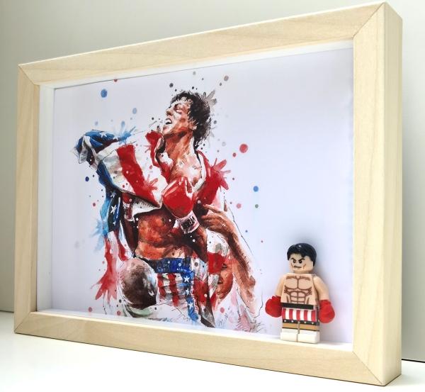 Cuadro minifigura Rocky Balboa