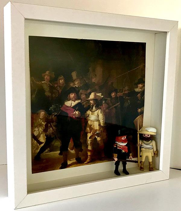 Playmobil La ronda de noche (Rembrandt) - Enmarcado para coleccionistas