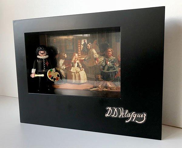 Playmobil Velázquez (Custom) - Enmarcado para coleccionistas