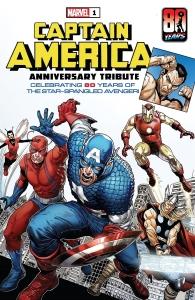 Portada Captain America 80 Anniversary Tribute